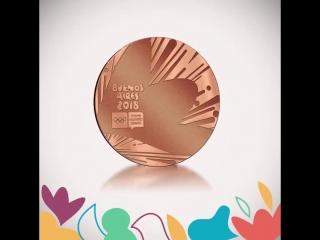 Tenemos nuestra medalla! - - Este es el diseño que se van a llevar nuestros jóvenes atleta