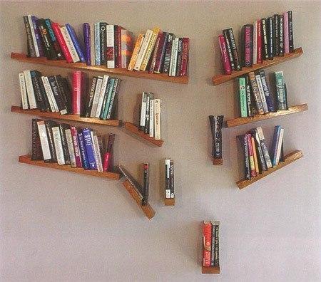 """""""Падающая"""" полка для книг #DIY_Идеи"""