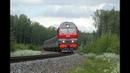 ТЭП70БС 310 в s образных кривых с пассажирским поездом Перегон Бельково Кипрево Северной жд