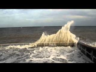 Шторм в Алуште, Крым, Черное море