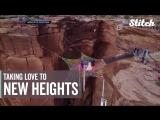 Удивительная свадьба в небе на высоте 400 футов над скалами (music Red Hot Chili Peppers ) Смотрим и восхищаемся!✈?☀