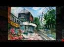 Пленэр, город, акварель алла прима ( Лето с Шоколадницей , 42х30 см) Олег Беседин, Иркутск