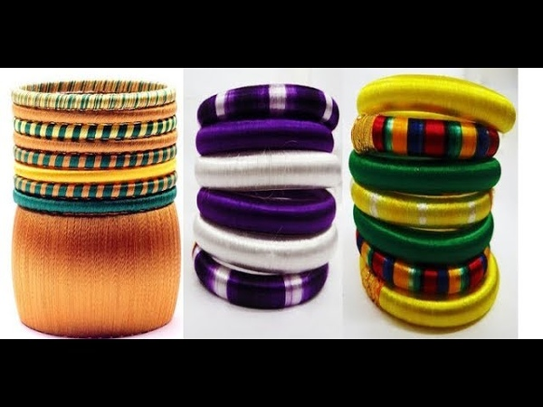 Wrapping Ideas Of Colors In Silk Thread Bangles