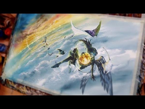 [NO.7] Watercolor illustration-SpeedDrawing-ConceptArt 수채화일러스트-드로잉