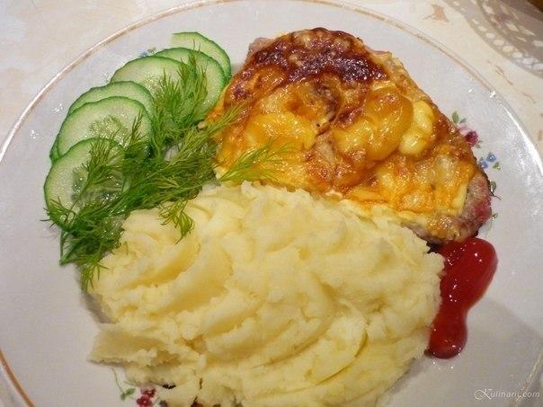 Отбивная из свинины в духовке с картофелем рецепт