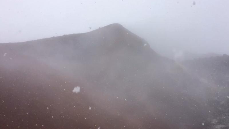 Снег на Аваче вначале августа