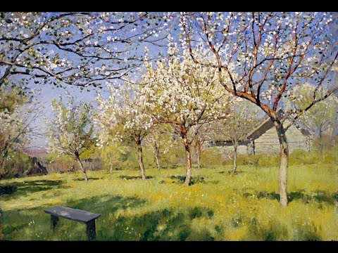 Цветущие яблони. Онлайн мастер-класс по живописи маслом.