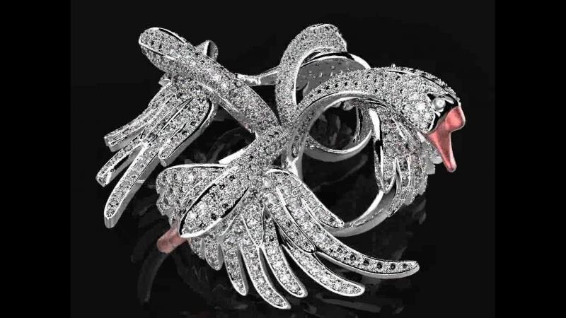 Копия кольца Boucheron Изготовление ювелирных украшений 3d моделирование ювелирных украшений ЧПУ фрезеровка модельного воска