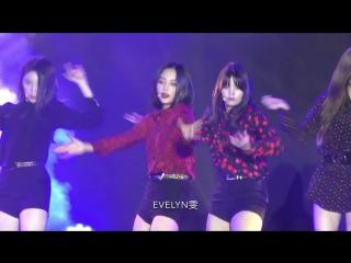 4K 180728 k-star 콘서트 CLC 씨엘씨 black dress 예은 focus