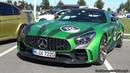 The Huge Sounds Of 585HP Mercedes Benz AMG GTR Green Tiger Revs Loud Acceleration!