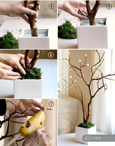 Как сделать дерево из розы