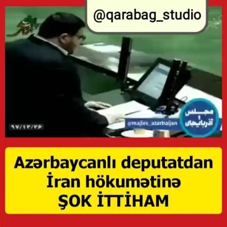 Qarabag Studio on Instagram İran parlamentinin Azarbaycanli millət vəkili sual verir Fələstinin işğalı ilə Qarabağın işğalı arasında nə fərq var