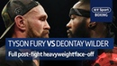IT'S ON Tyson Fury and Deontay Wilder FULL post fight confrontation at Windsor Park