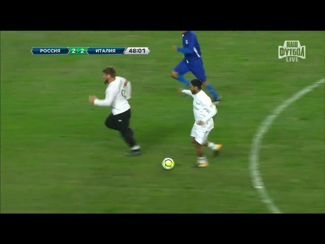 Кадыров играет в футбол c Роналдиньо