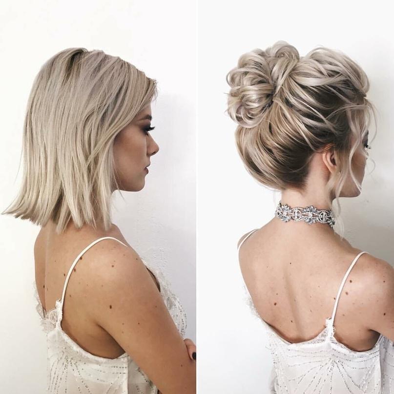 Причёски на короткие волосы 🌱