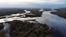 Слияние двух рек в Хакасии. Река Абакан и Енисей возле города Абакана.