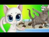 Уход за кошками. Детский игровой мультфильм про кошечек. Пятачок тв 🐽📺