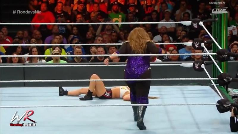 Ronda Rousey VS Nia Jax Raw Women's Championship Money in The Bank