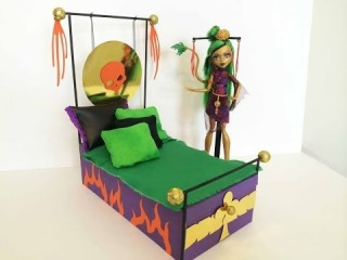 how to make a monster high bed tutorial