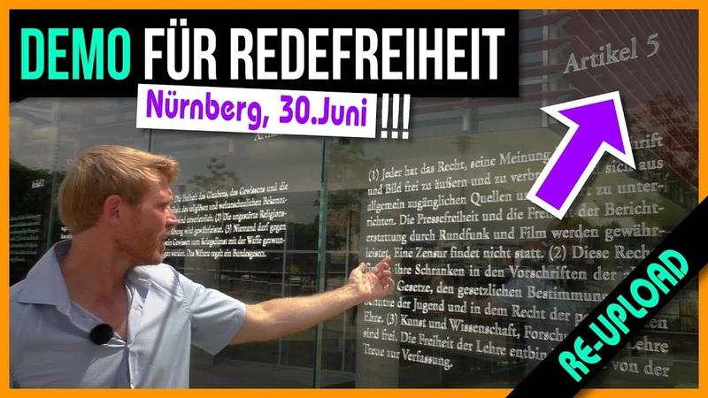 Auf zur Redefreiheit Demo nach Nürnberg!