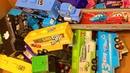 Игрушки Большая Коробка Тачки Грузовики Трейлеры Дисней Видео для Детей Мультики про Машинки