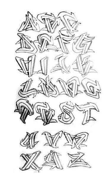 алфавит граффити английский: