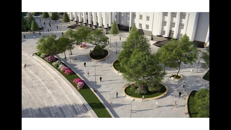 Площа Миру в Краматорську (камера 3)