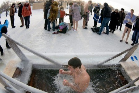 Крещенские купания в Таганроге