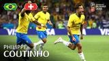 Philippe COUTINHO Goal - Brazil v Switzerland - MATCH 9