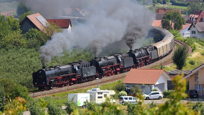 IGE Deutschlandrundfahrt 2015 - Dreifachtraktion BR 01 am 8.8.2015