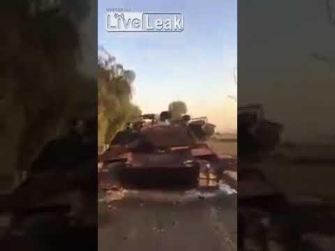 Destroyed tank Iraqi army M1A1 Abrams