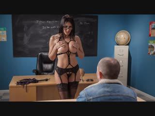 Reagan foxx (domme teacher / 04.02.2019) [average body, bald pussy, big tits, brunette, caucasian, dress, enhanced, garter belt]