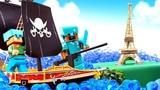 Видео про игру Майнкрафт - Путешествия Стива!  Игрушки Майнкрафт Лего.
