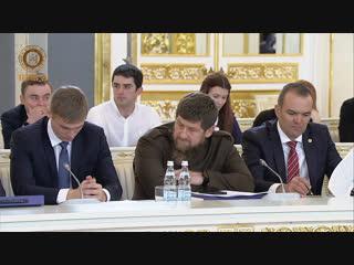 Принял участие в заседании Государственного совета в Кремле.