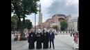 Делегация УПЦ посетила храм Святой Софии и патриарший храм Георгия Победоносца
