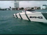 AMG Cigarette Race Boat - At Idle from Press Boat