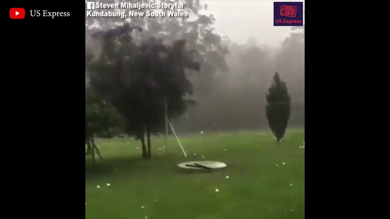 Hail the size of golf balls fell in New South Wales