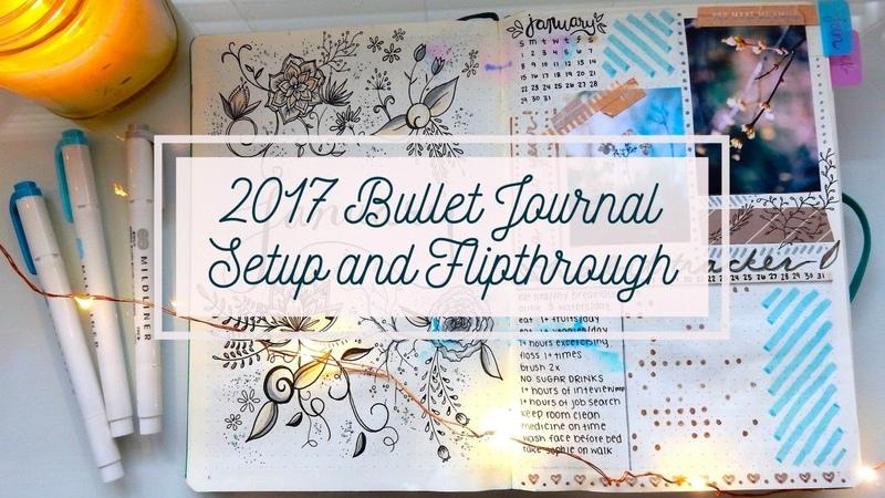 2017 Bullet Journal Setup January Flip Through