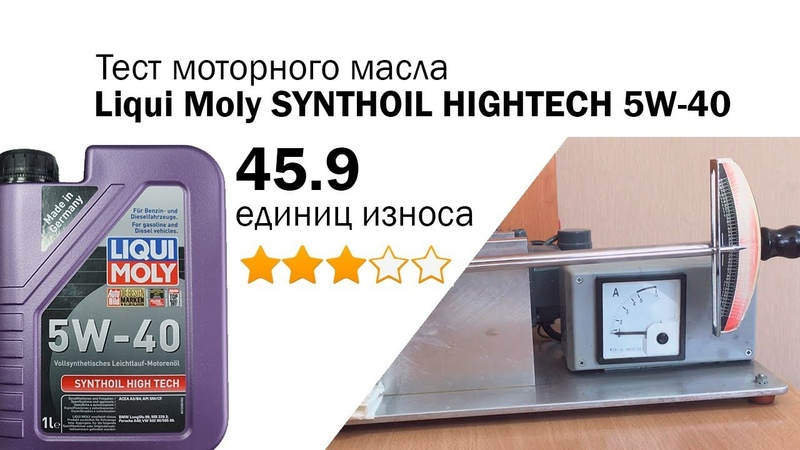 Маслотест 7. Liqui Moly Synthoil Hightech 5W-40