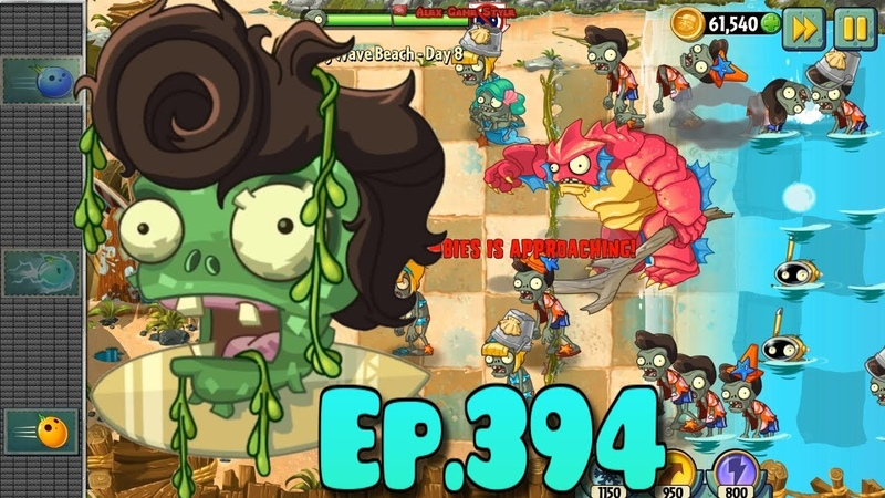 Plants vs. Zombies 2 | Bulb Bowling level - New Deep Sea Gargantuar - Big Wave Beach Day 8 (Ep.394)