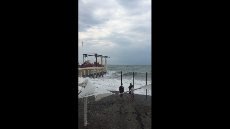 Пляж Огонек шторм 16.07
