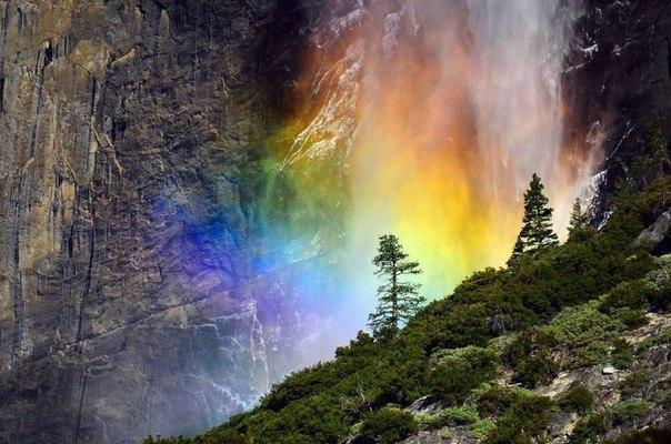 «Лошадиный хвост», водопад в Йосемити.