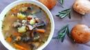 Суп Грибной с Перловкой Вкусный ароматный сытный суп за 20 минут