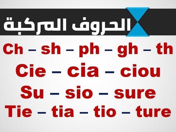 سلسلة الكلمات (2) الحروف المركبة في الانجليز