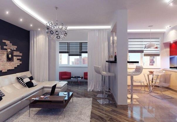 Дизайн небольшой квартиры 35 кв.м !