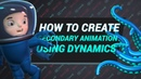 How to create secondary animation using dynamics in Maya [RUS]