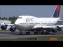 突然の横風、機体が大きく傾く危ないランデング B747 デルタ33322