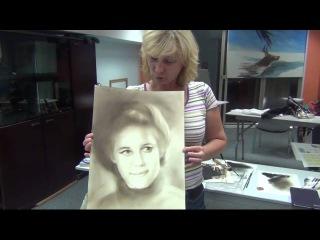 Как рисовать портрет сухой кистью. сепия. отзыв