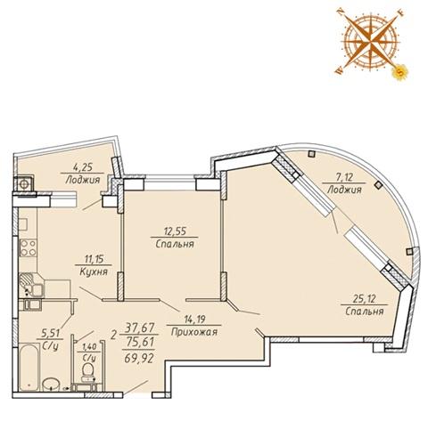 2-комнатные квартиры в ЖК Есенин Рязань