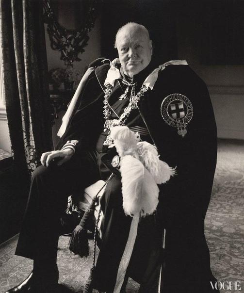 Портрет Сэра Уинстона Черчилля.